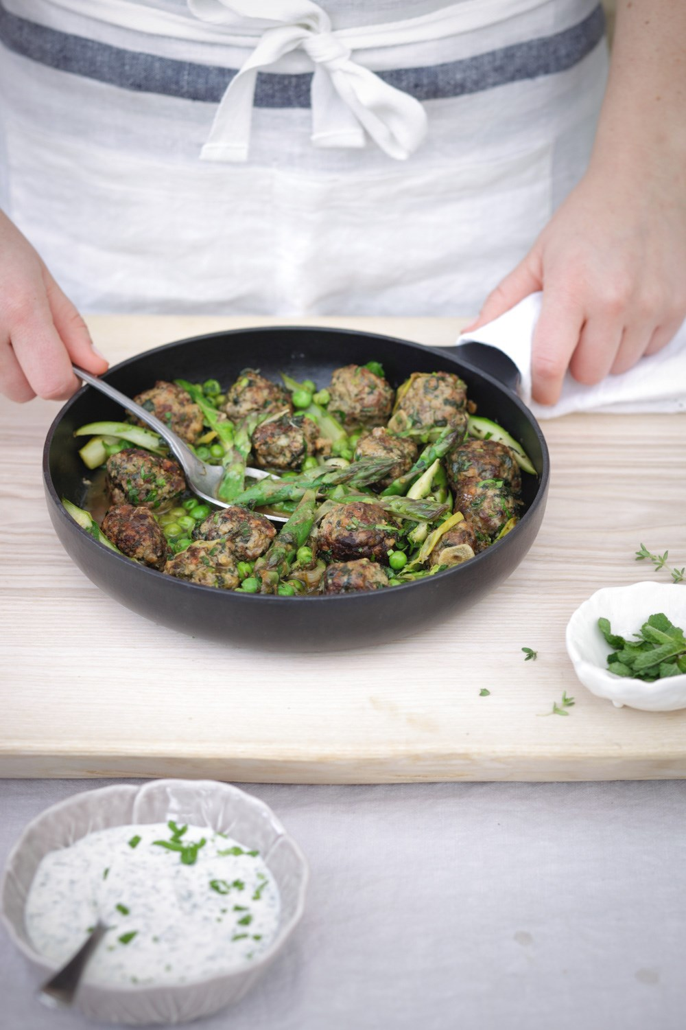Minted Lamb Meatballs with Asparagus.jpg