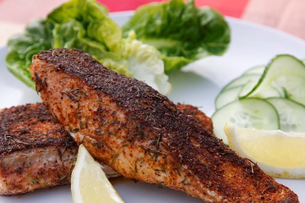 Blackened Organic Salmon Steaks