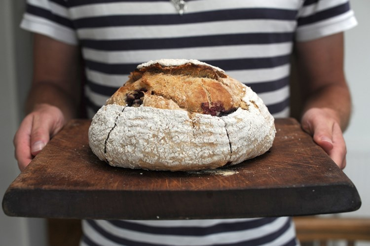 Blackberry and Apple Sourdough