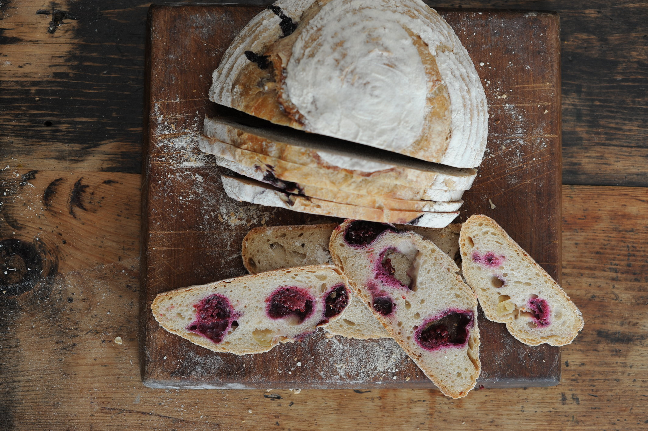Organic Blackberry and Apple Sourdough Loaf