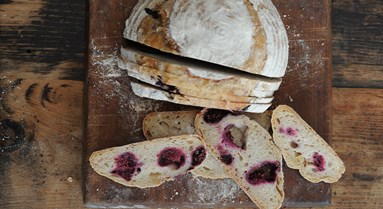 Blackberry and Apple Sourdough Loaf