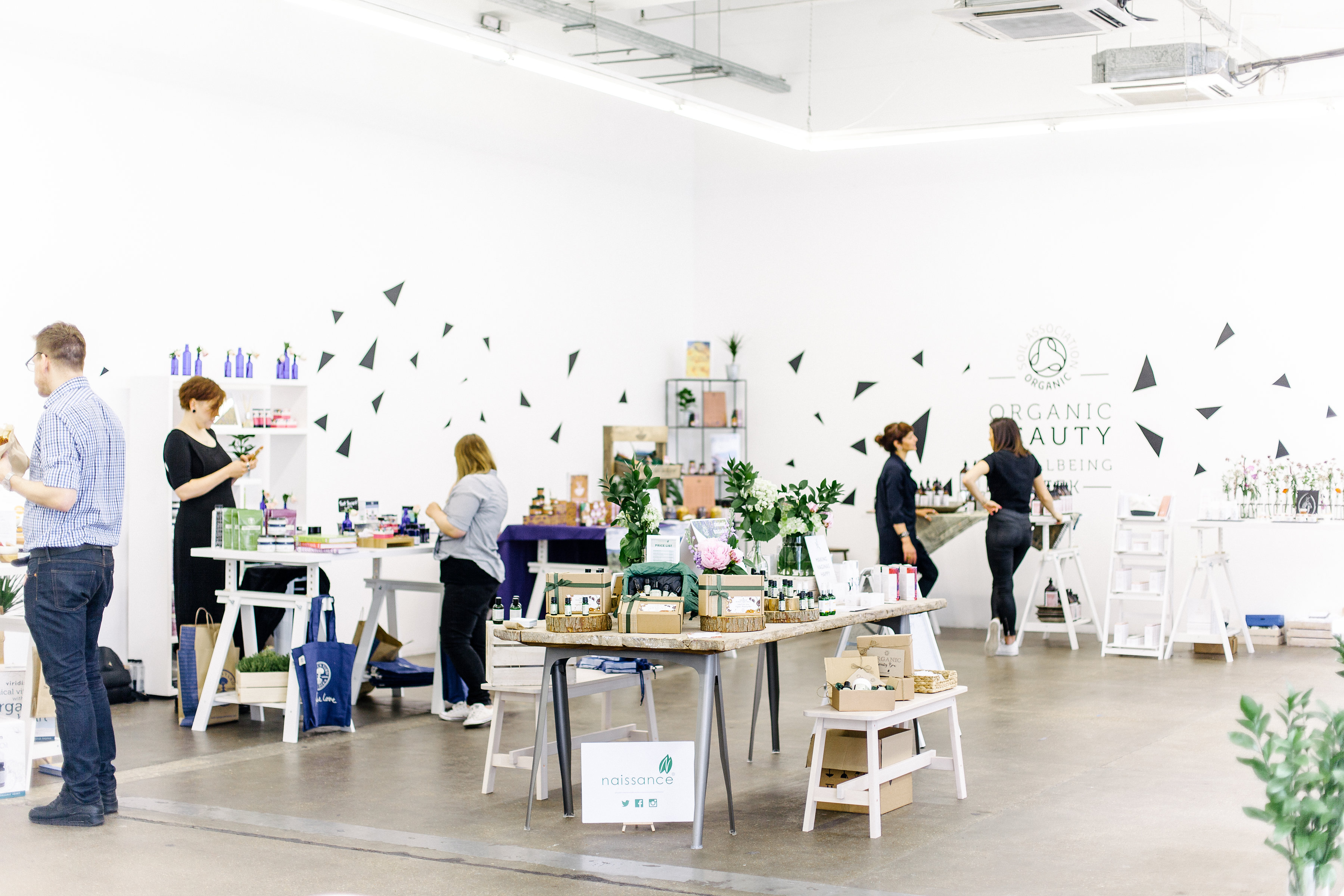 Organic Beauty & Wellbeing Week 2017 pop-up shop
