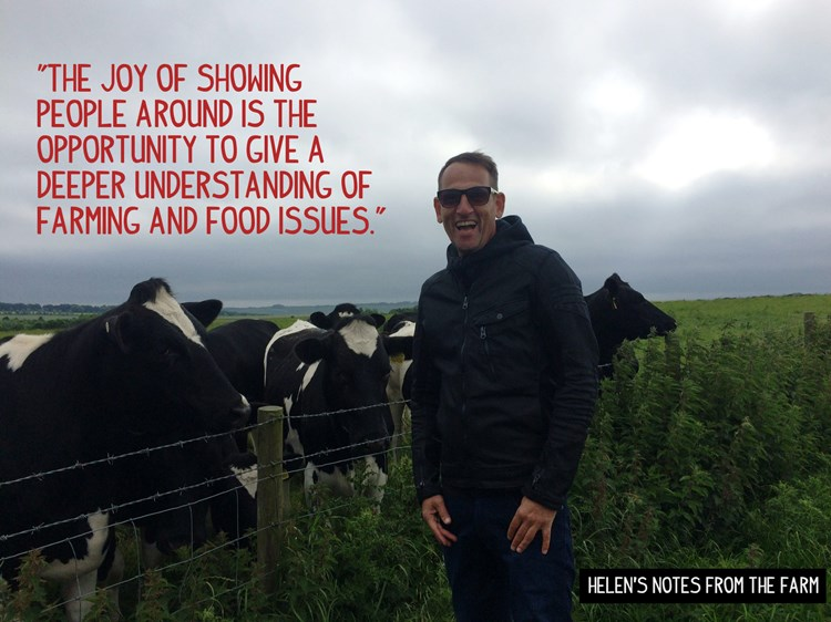 """The joy of showing people around is the opportunity to give a deeper understanding of farming and food issues"""
