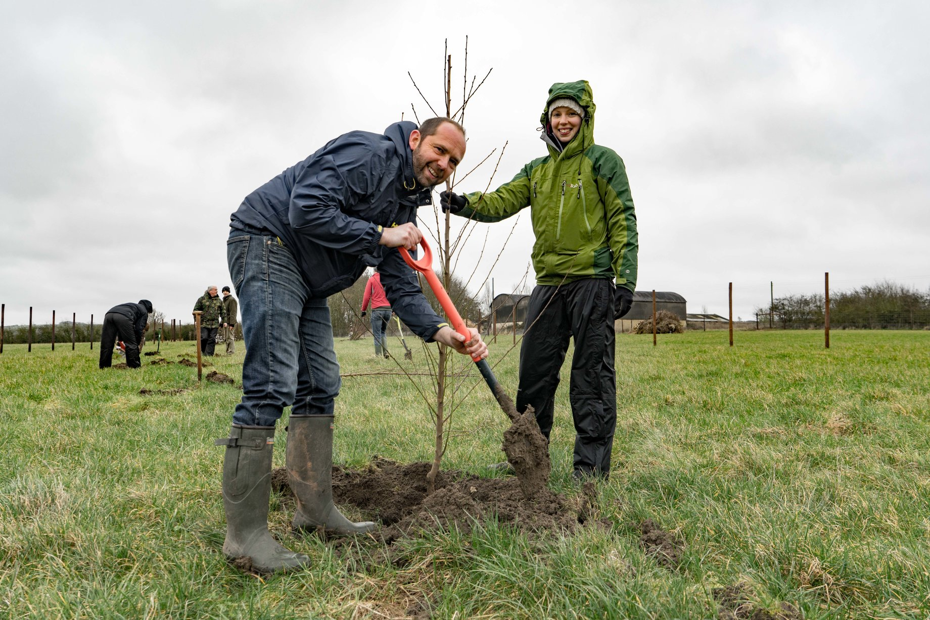 Planting trees at Eastbrook
