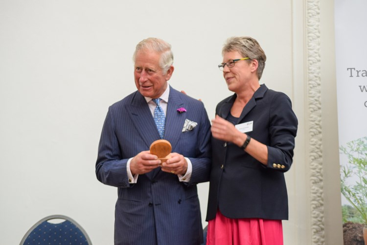 Helen and HRH Prince Charles at the 70th Anniversary for Soil Association