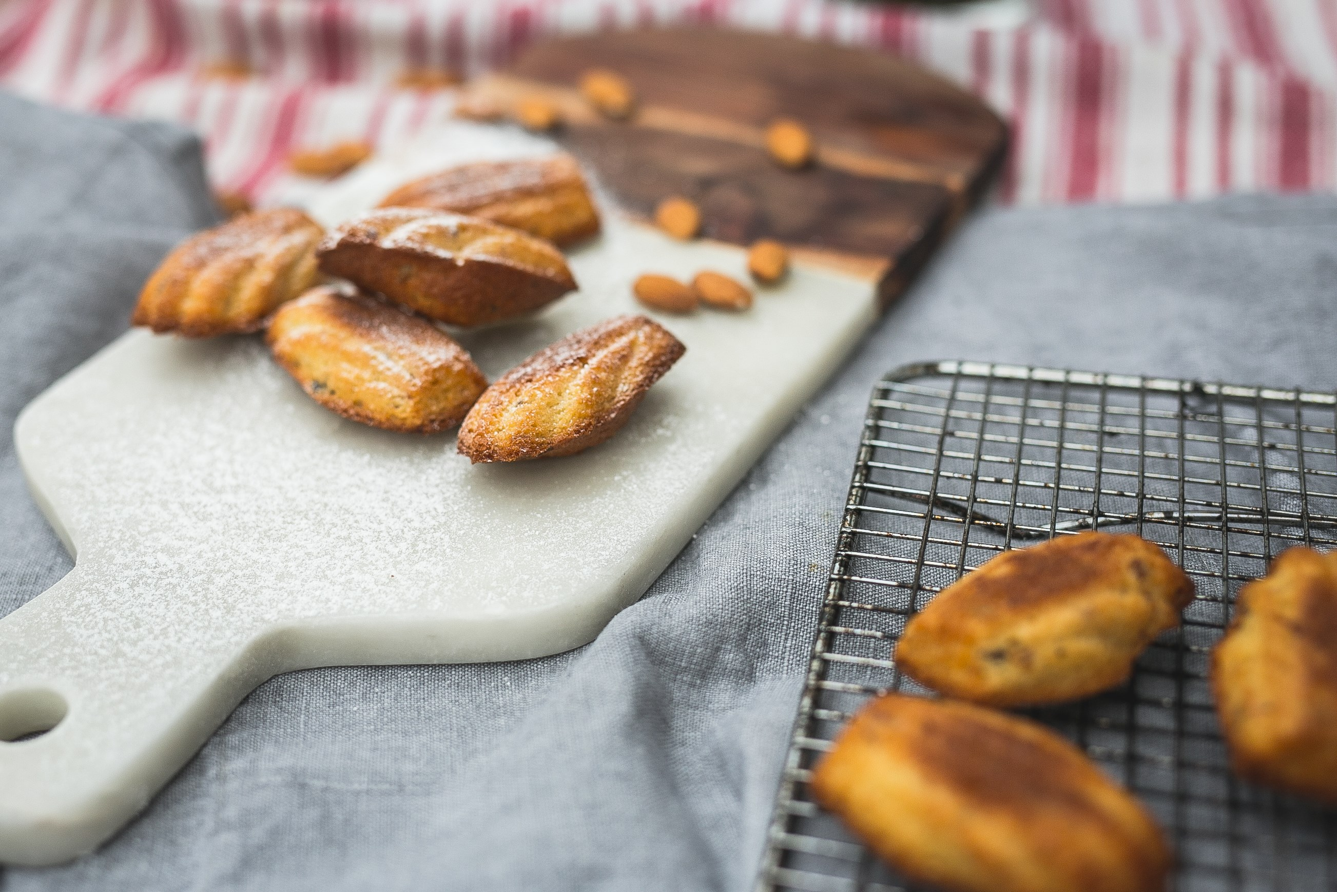 Almond And Apricot Madeleines