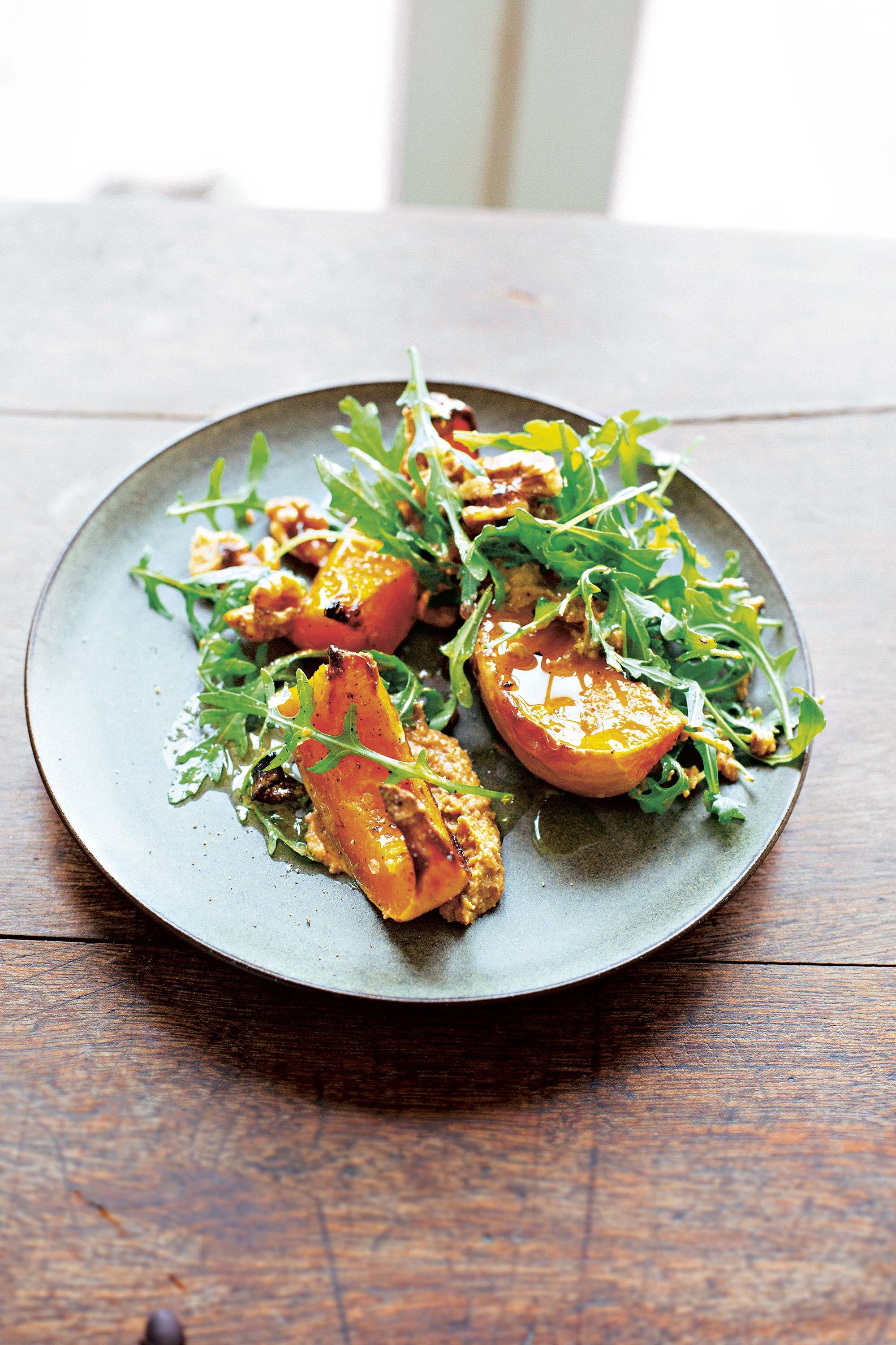 Roast squash and walnuts, two ways