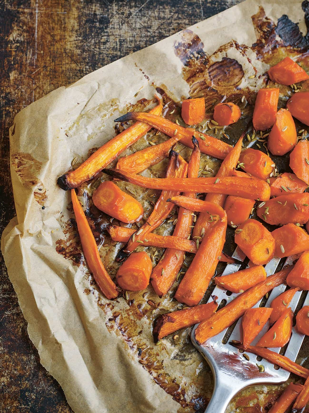 Roast Carrots With Honey And Fennel