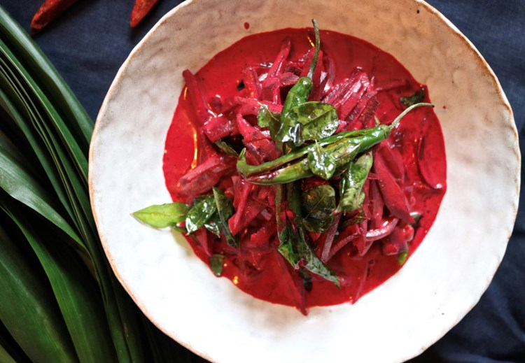 how to make sri lankan beetroot curry