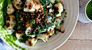Cauli, Kohlrabi & Apple Salad