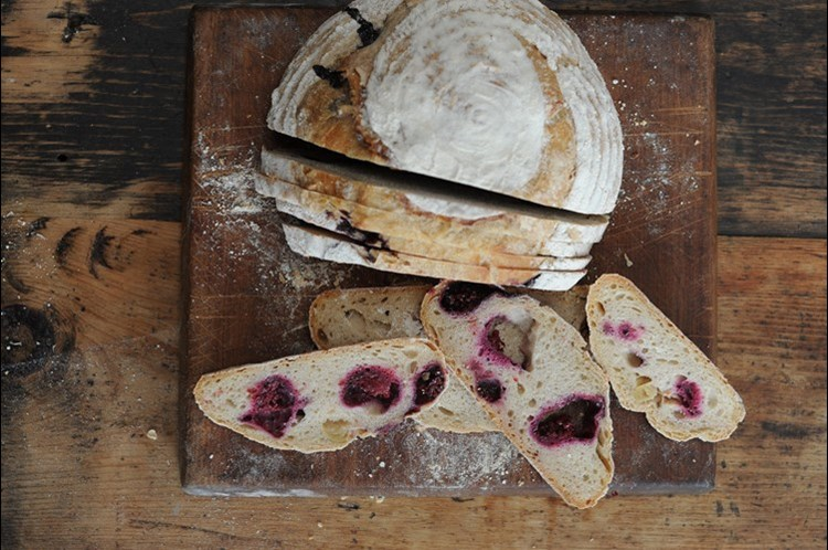 organic blackberry and apple sourdough