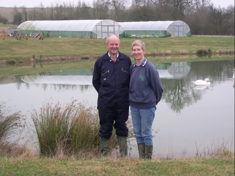 George and Gill Browning at Feldon Forest Farm