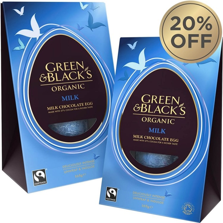 Green and Black's Organic Milk Chocolate Easter Egg