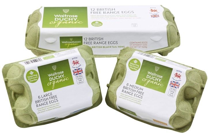 Waitrose Duchy Egg Boxes