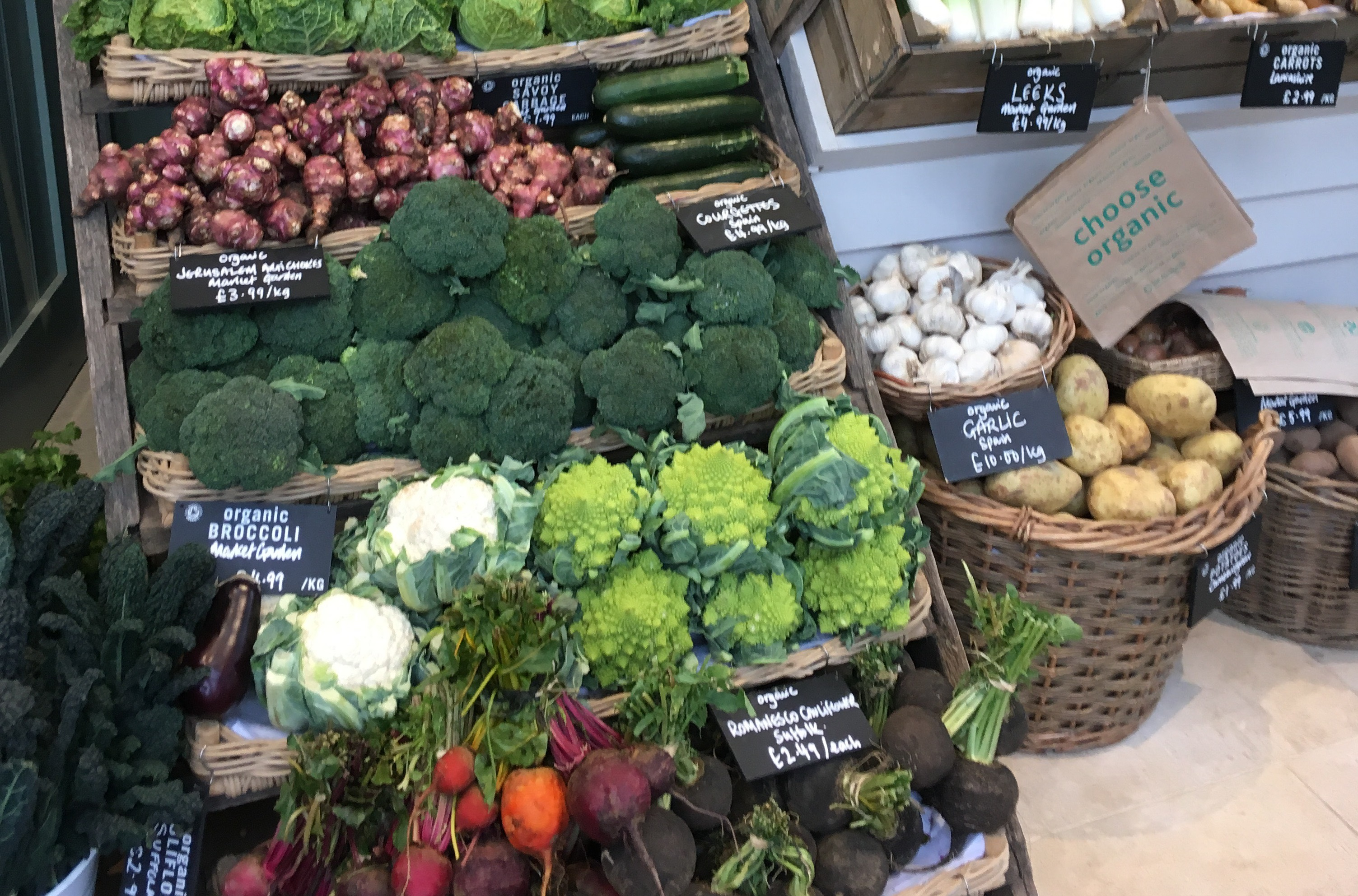 Organic vegetables at Daylesford