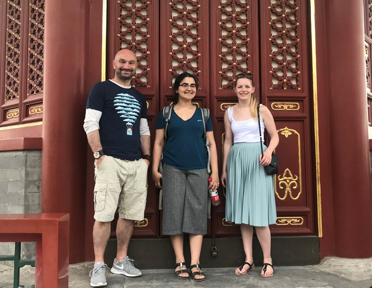 John, Sonia and Becky at the Forbidden City