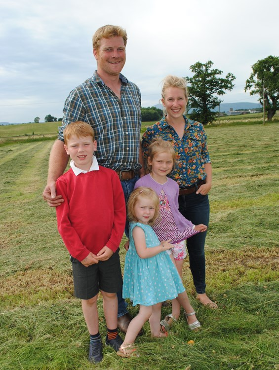 Farmer Duncan Mcewen and family