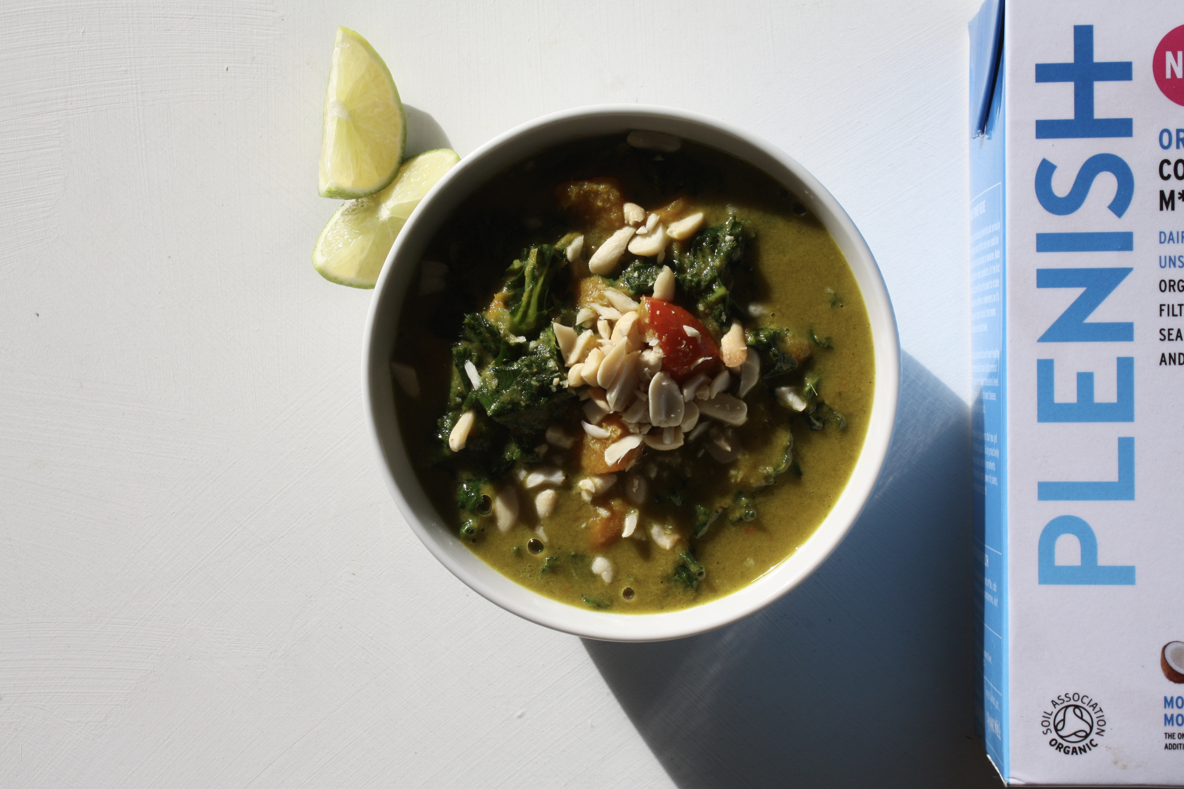 Spinach, Coconut and Lemongrass Soup