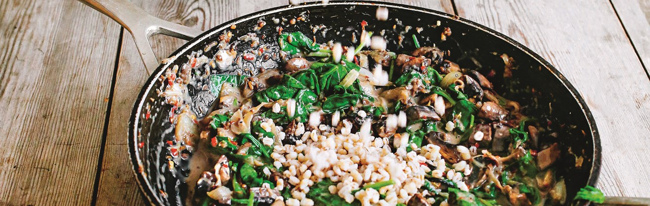 Mushroom and Spinach Spelteree