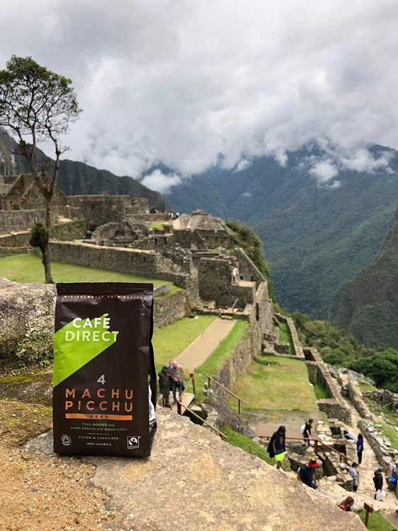 cafe direct coffee at the site of macchu picchu