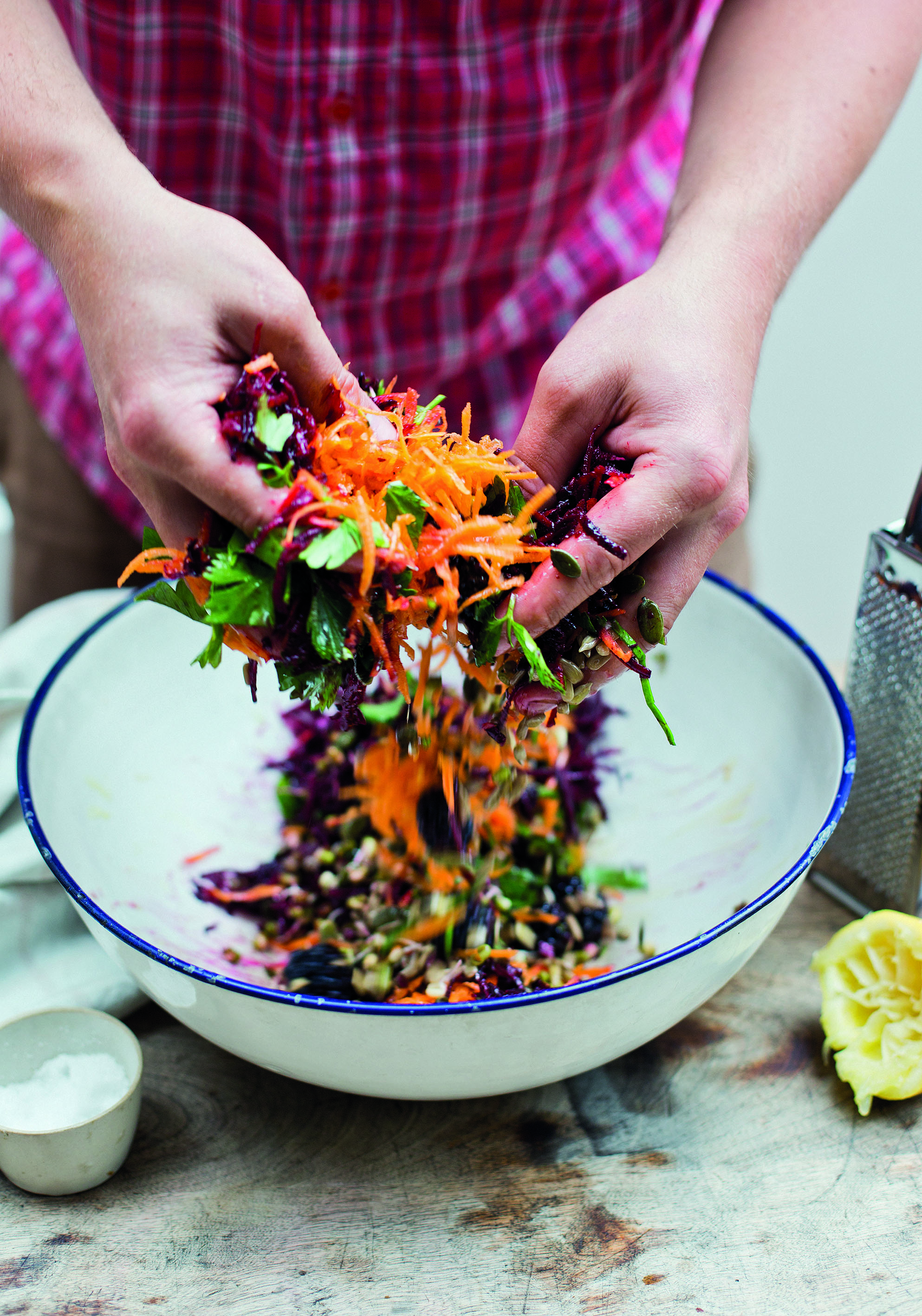 Autumn Slaw with Kale, Beets, Blackberries & More