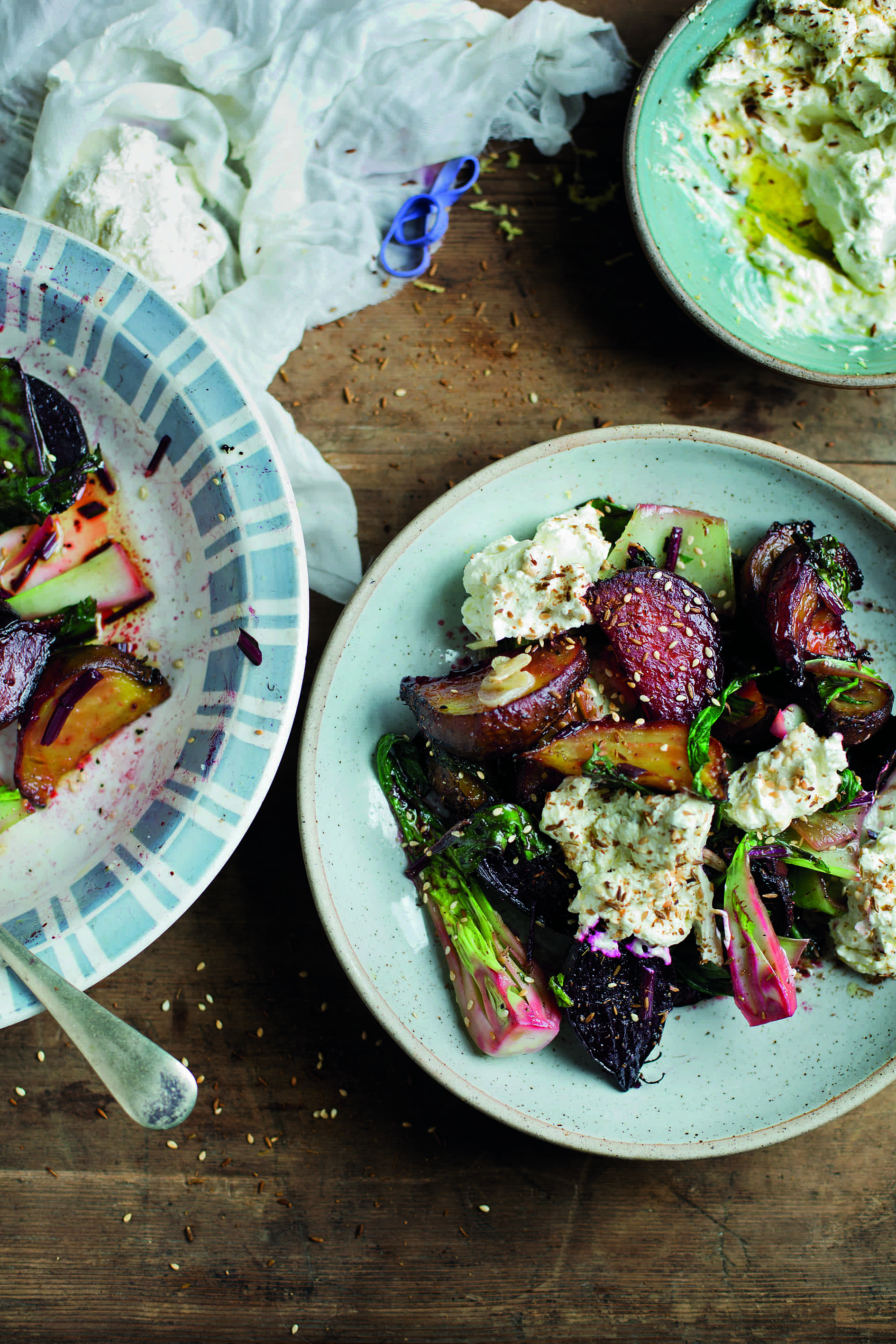 Roast Beetroot, Greens, Labneh and Cumin