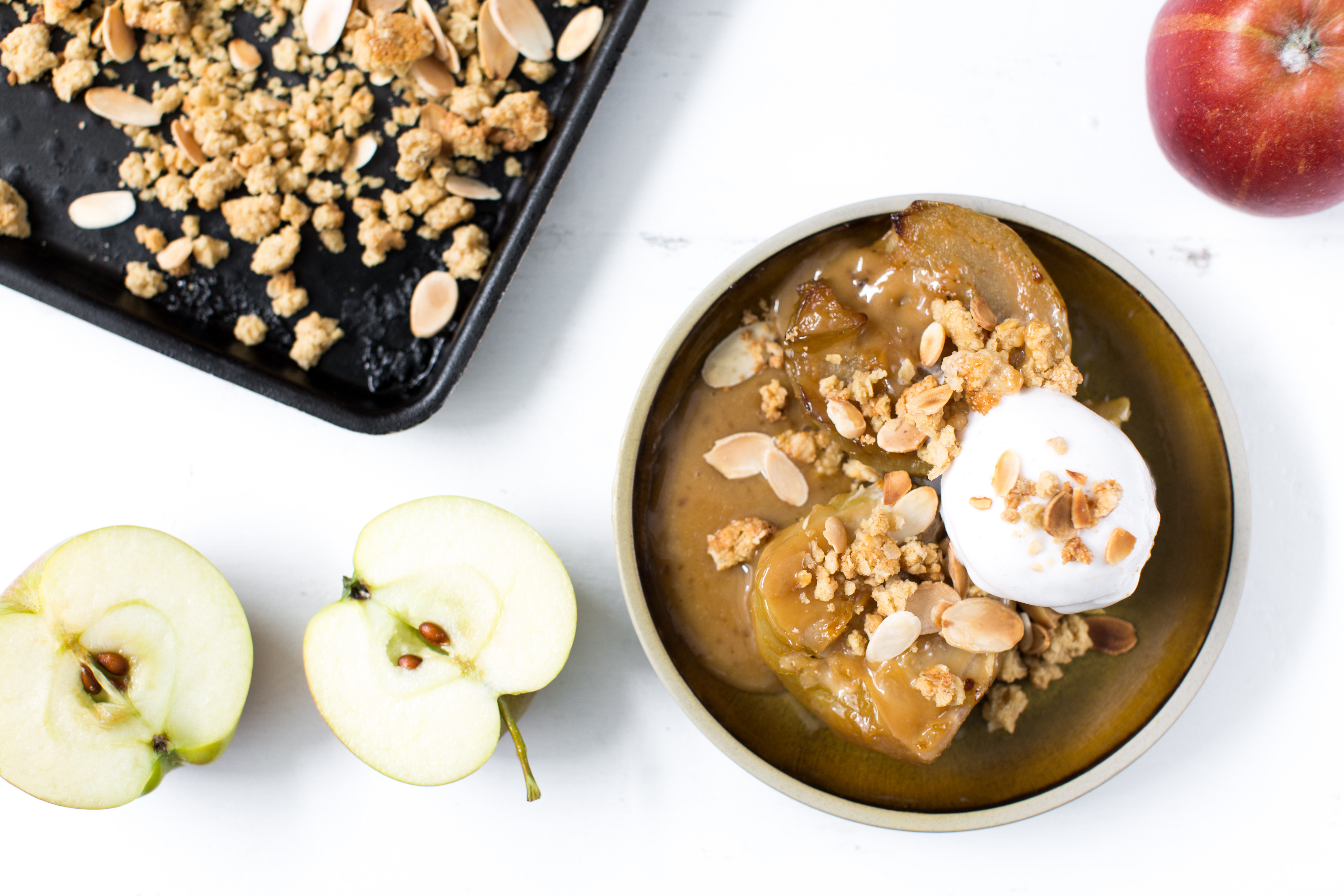 Miso Butterscotch Baked Apples