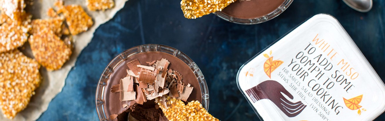 Vegan Mousse with Sesame Brittle