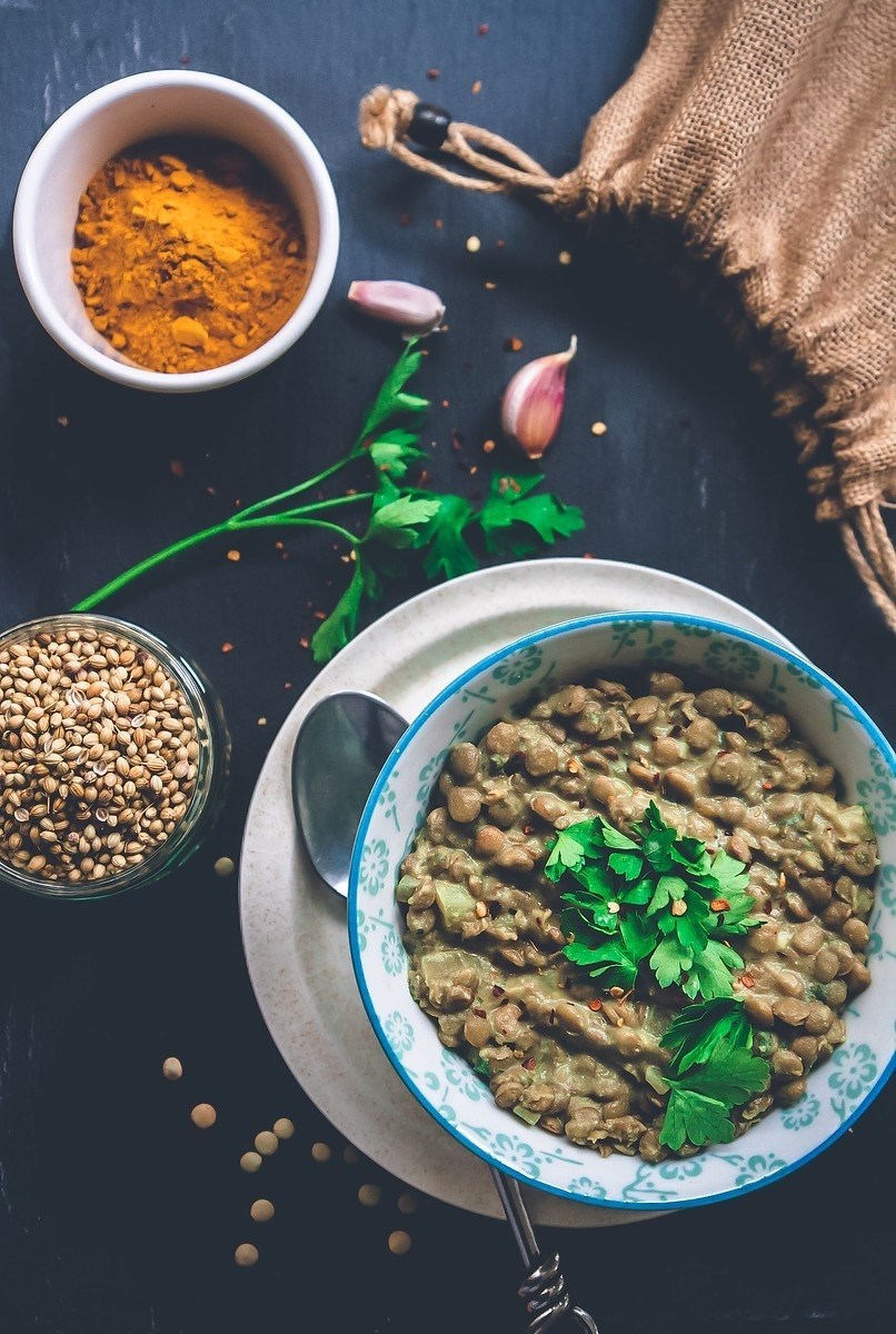 Green Lentil and Coconut Curry