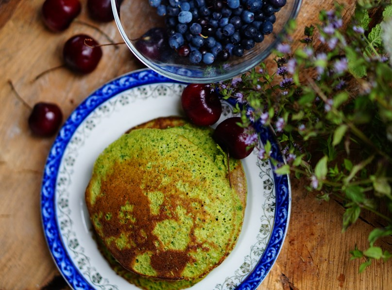 Spinach and Coconut Pancakes