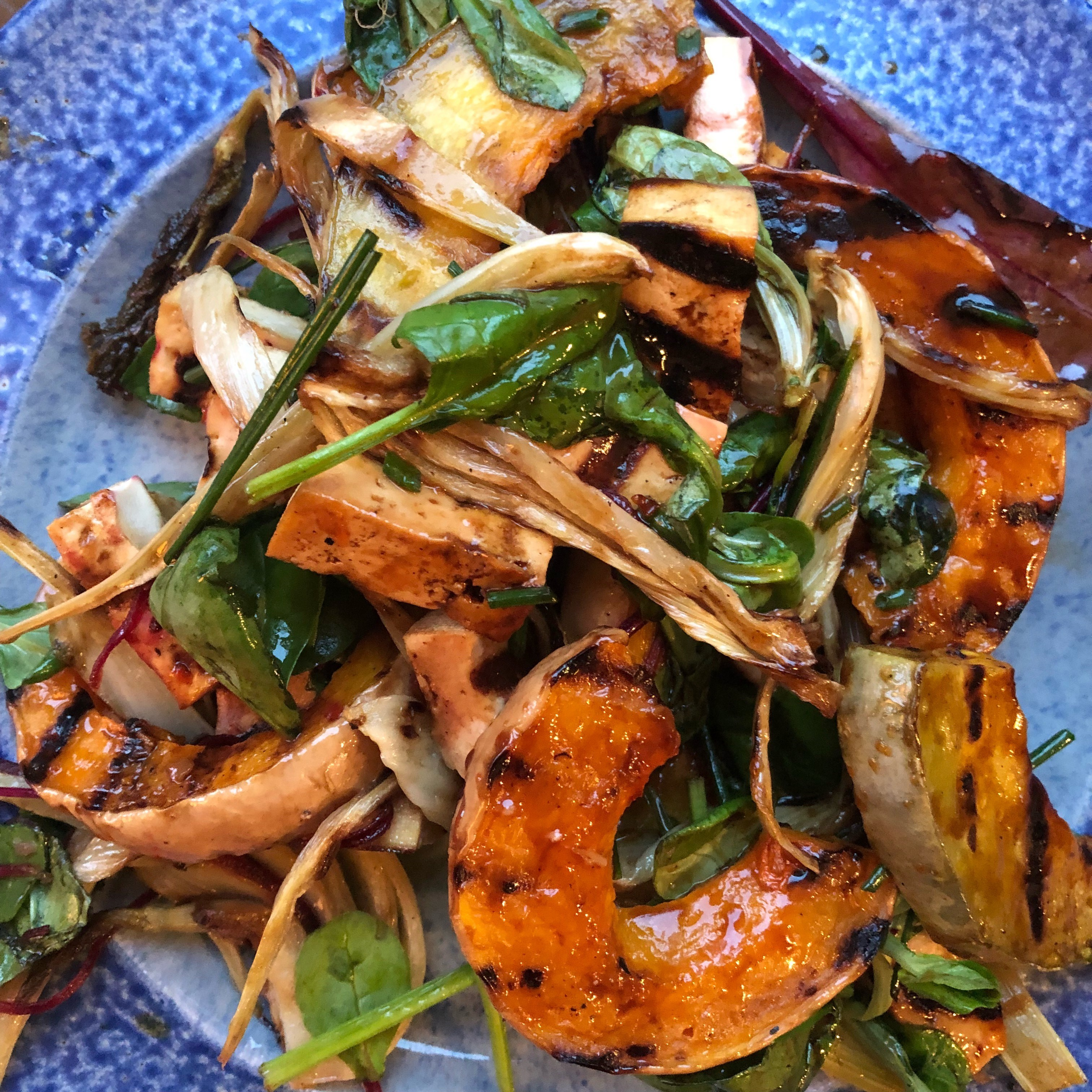 Griddled Squash, Fennel and Smoked Tofu