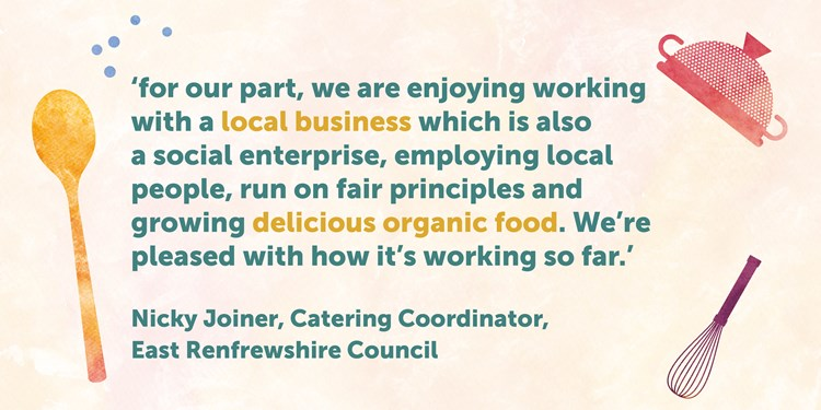 quote from East Renfrewshire Catering Coordinator