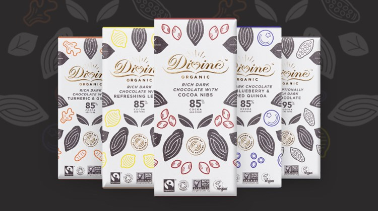 divine's latest range of organic dark chocolate flavours