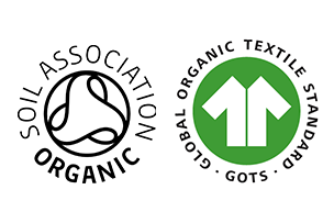 GOTS and Soil Association logos