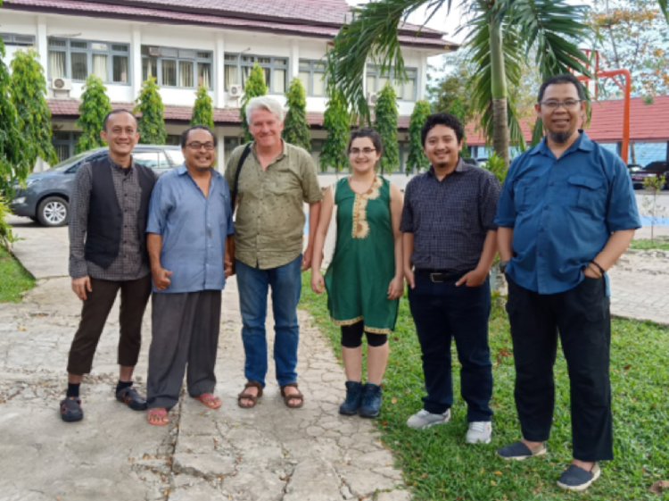 Members of the Forestry team, Sonia Nayar and Andy Grundy, with the auditor team from Mutu Agung Lestari in Borneo