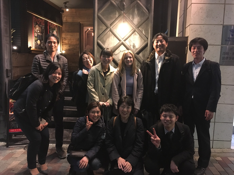 Forestry Certification Officer, Becky Henson, and the AMITA team in Japan