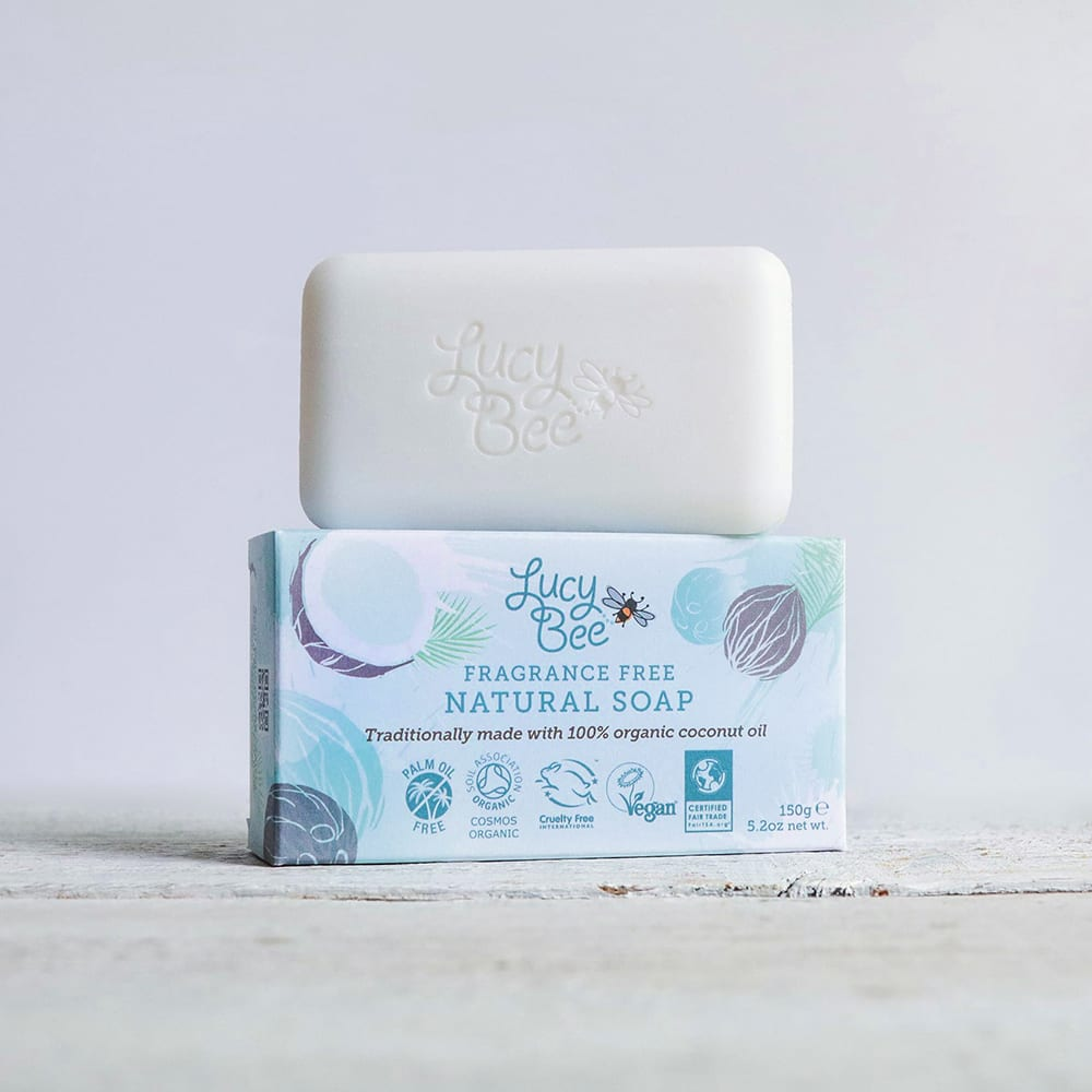 Lucy Bee Fragrance Free Bar Soap