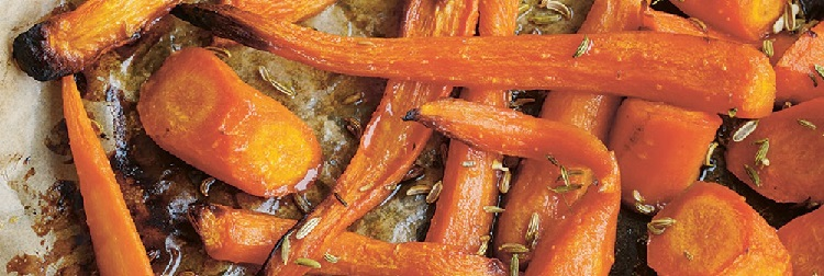Carrots, honey and fennel