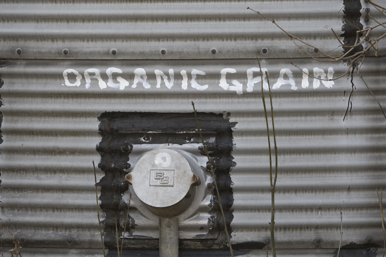 organic grain store on an organic farm