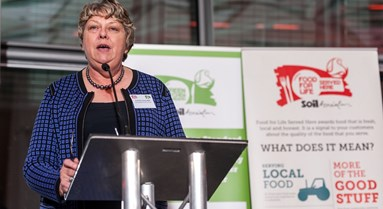 Jeanette Orrey MBE, Food for Life co-founder, receives Lifetime Achievement Award