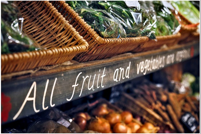 fruit and veg in a shop