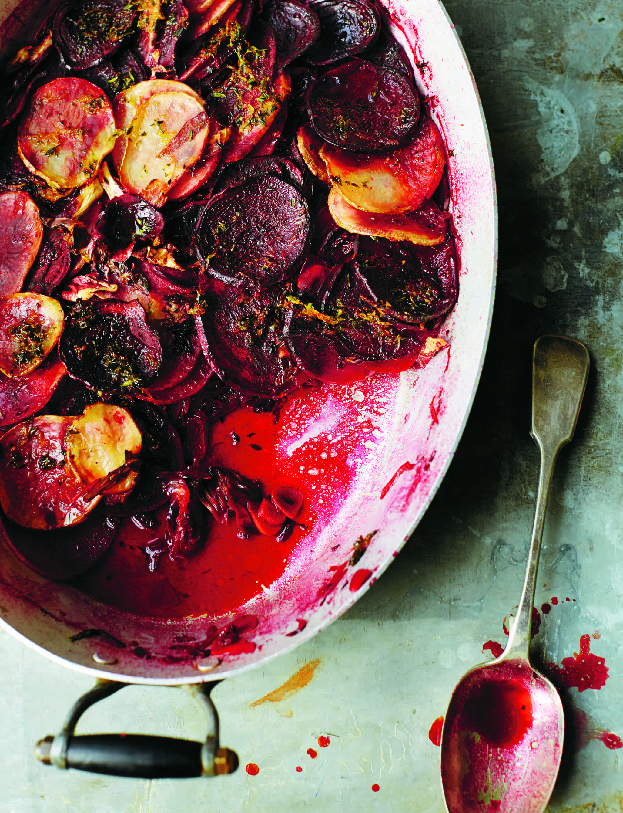 Anna Jones' Beetroot and Radichio Gratin