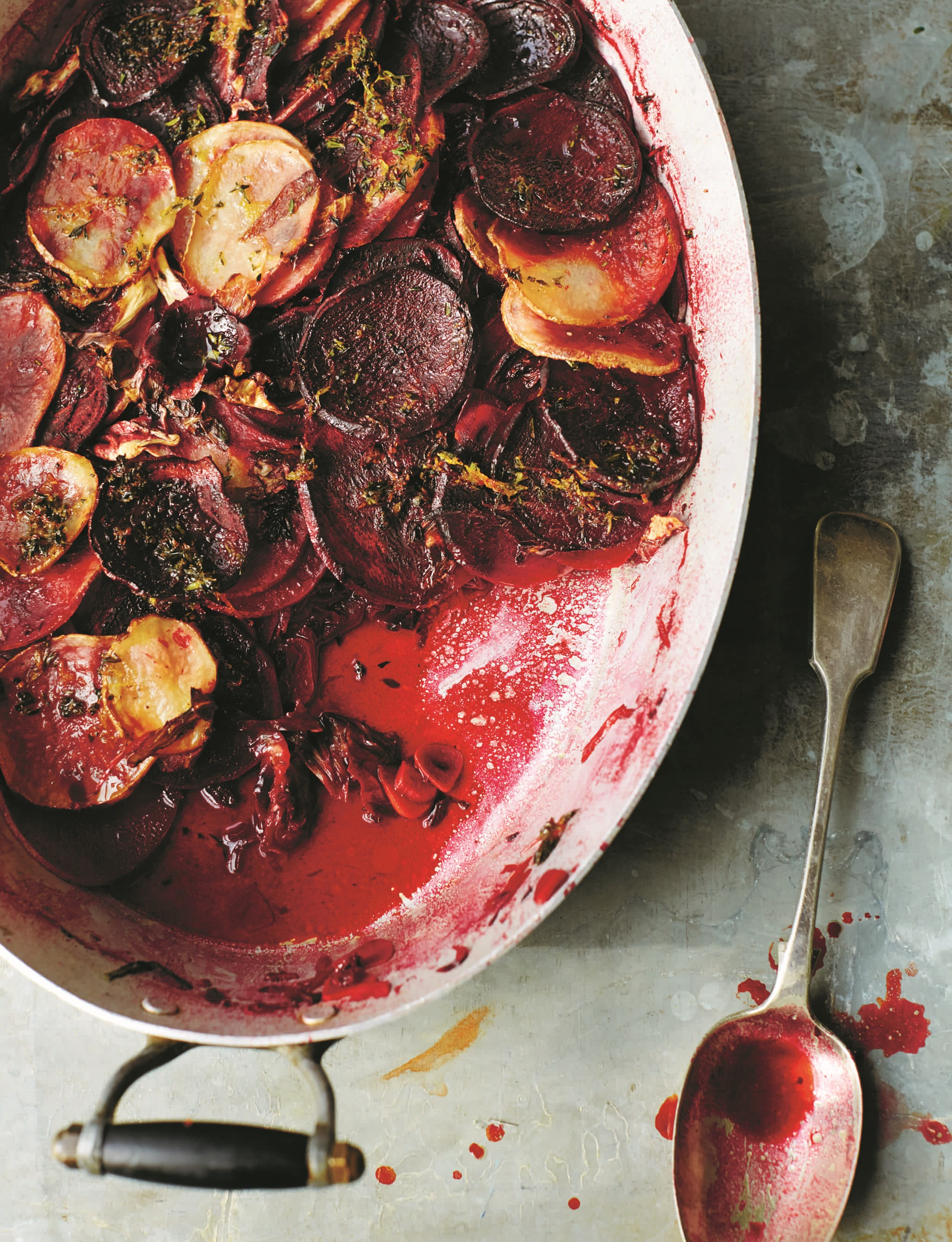 Beetroot and Radichio Gratin