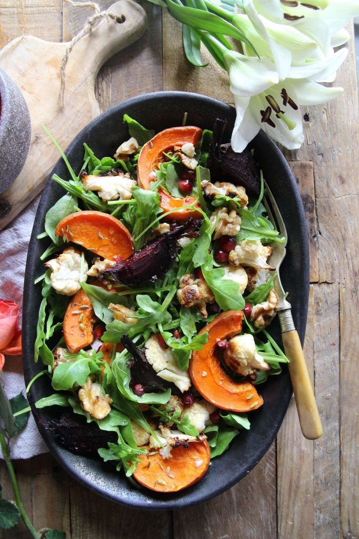 Warm Roast Veg Salad Recipe