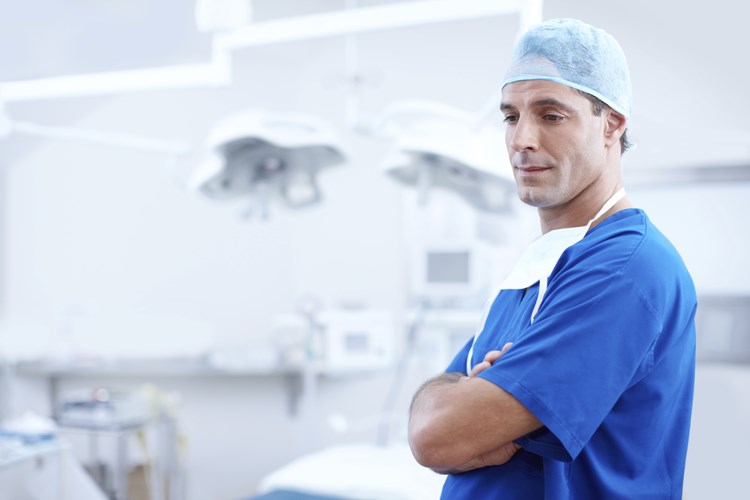 a healthcare professional in a surgery room