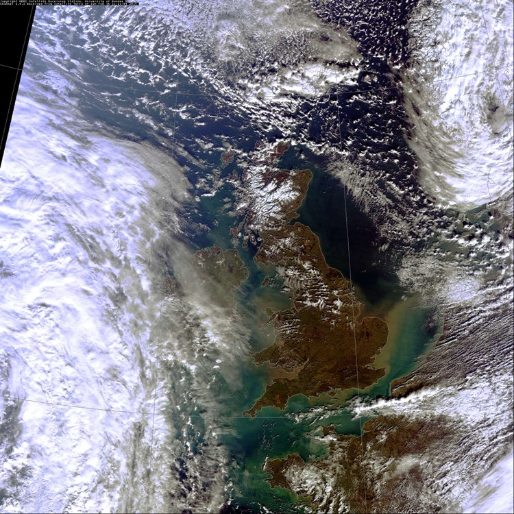 satelitte image of the UK